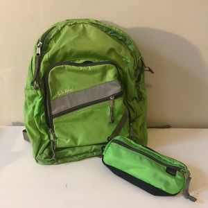 L.L. Bean Deluxe Book Pack - Lime Green